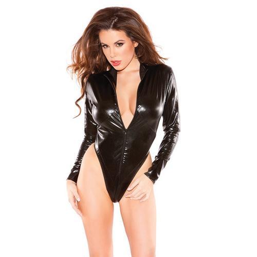Kitten  Naughty Bodysuit Black O/S