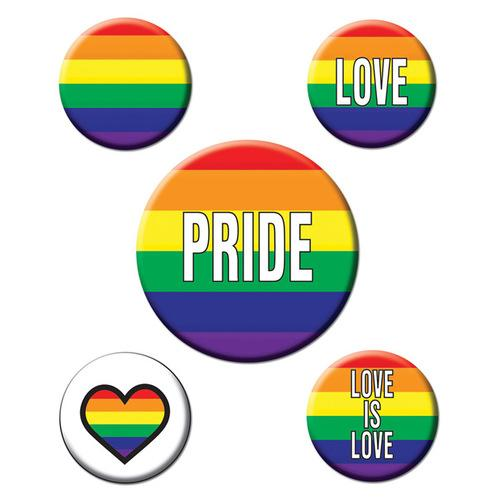 Rainbow Rainbow Party Buttons