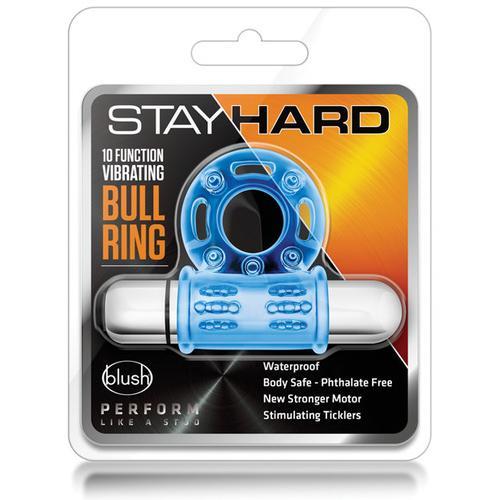 Blush Stay Hard Mega Vibrating Bull Ring