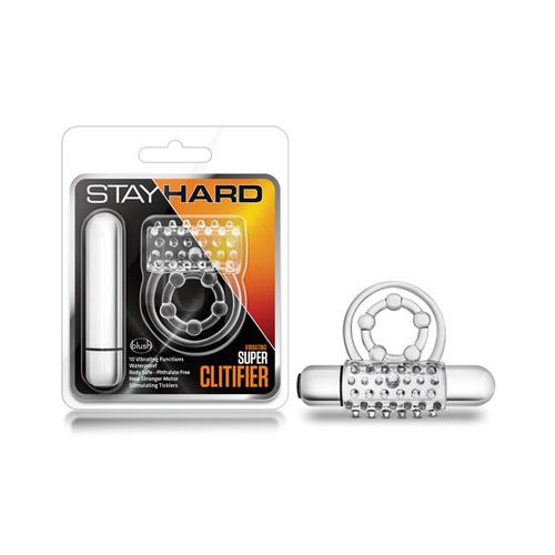 Blush Stay Hard Super Clitifier Cock Ring - Clear