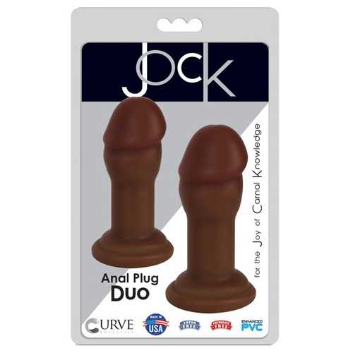 Curve Novelties Jock Anal Plug Duo Set - Chocolate