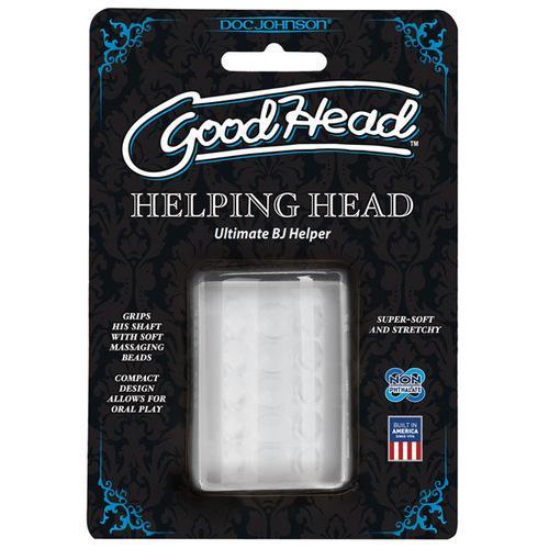 "Good Head Helping Head Ultimate BJ Helper 2"" Masturbator - Clear"