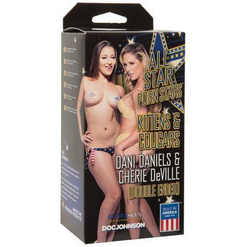 All Star Porn Stars Kittens & Cougars Dani Daniels Pussy & Cherie De Ville Ass - Flesh