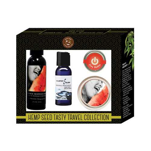 Earthly Body Hemp Seed Tasty Travel Collection - Watermelon