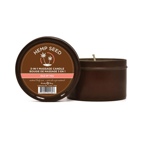 Earthly Body 3 in 1 Massage Candle - 6 oz Isle of You