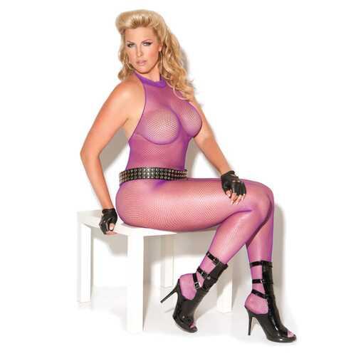 Vivace Fishnet Bodystocking Purple QN