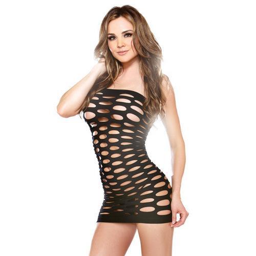 Vixen Pothole Tube Dress Black O/S