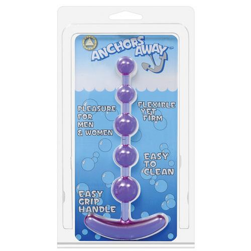 Anchor's Away Beaded Anal Plug - Lavender