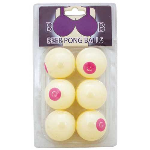Boob Beer Pong Balls - Pack of 6