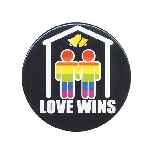 "3"" Button Men - Love Wins"