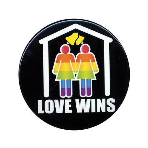 """3"""" Button Female - Love Wins"""