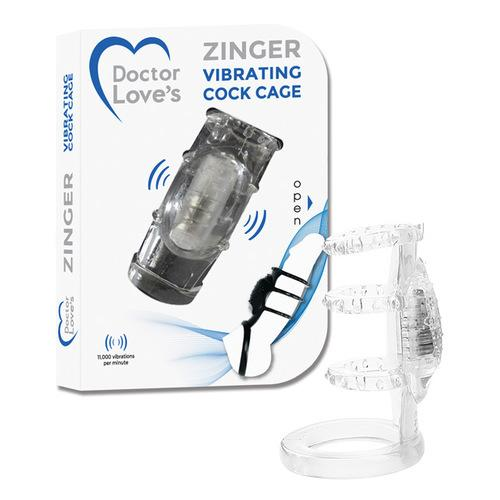 Doctor Love's Vibrating Cock Cage - Clear