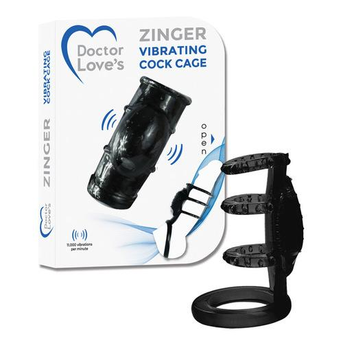 Doctor Love's Vibrating Cock Cage - Black