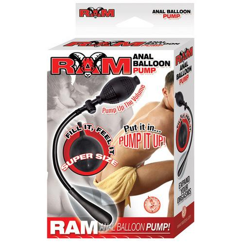 Ram Anal Balloon Inflatable Pump - Black