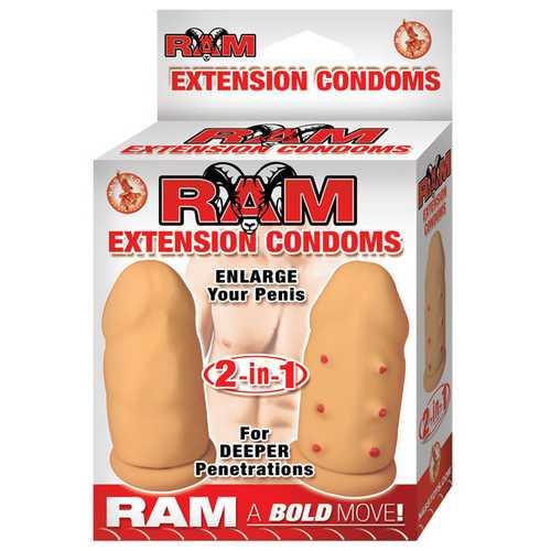 Ram Extension Condom - Flesh