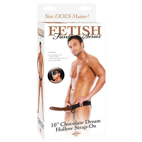 "Fetish Fantasy Series 10"" Chocolate Dream Hollow Strap On"