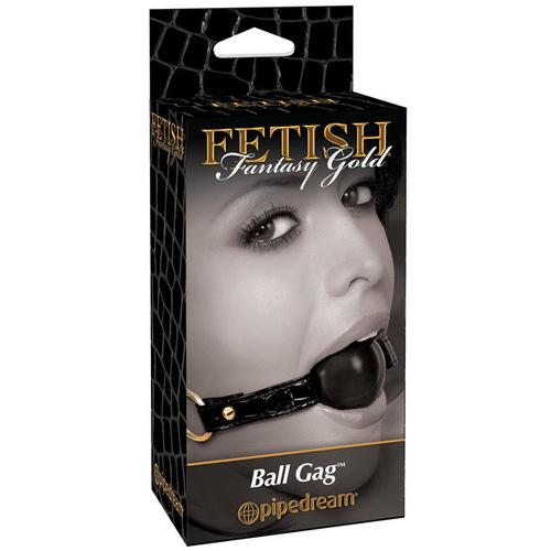 Fetish Fantasy Gold Ball Gag - Black
