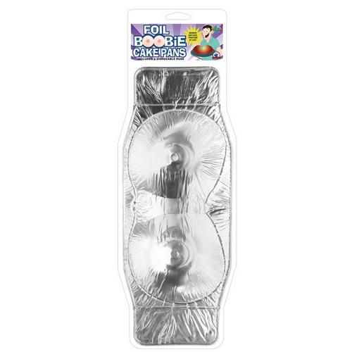 Foil Boobie Disposable Cake Pan - Set of 2