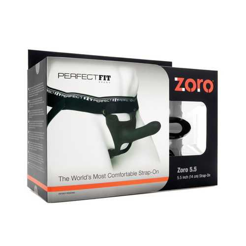 "Perfect Fit Zoro 5.5"" Strap-On - Black"