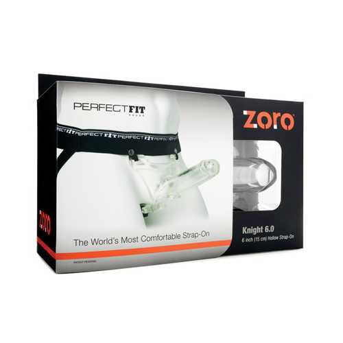 Perfect Fit Zoro Knight Hollow Strap-On - Clear