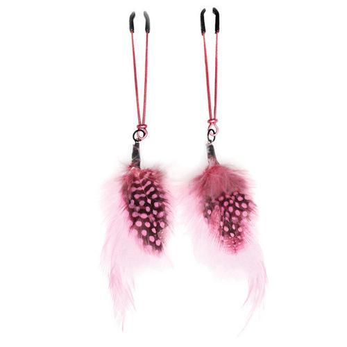 Bijoux de Nip Colored Feather w/Pink Tweezer Clamp