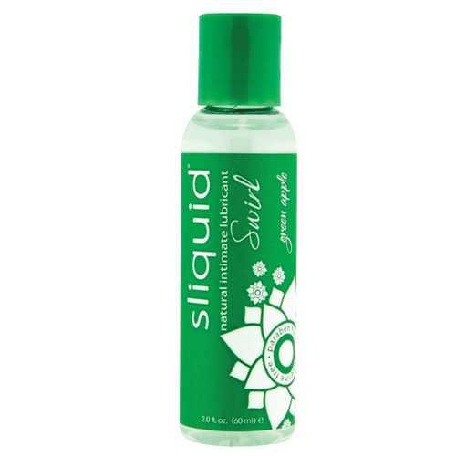 Sliquid Naturals Swirl Lubricant - 2 oz Green Apple