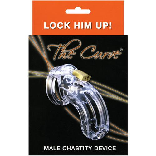"""CB-6000 3 3/4"""" Curved Cock Cage & Lock Set  - Clear"""