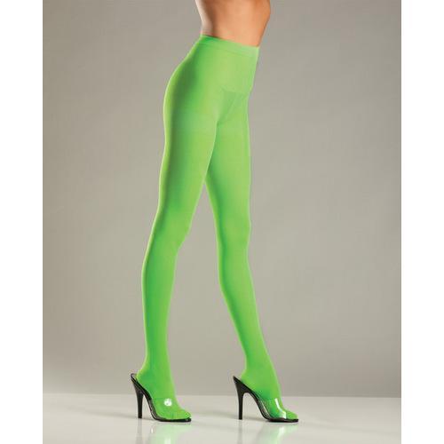 Opaque Nylon Pantyhose Green QN