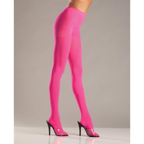Opaque Nylon Pantyhose Pink QN