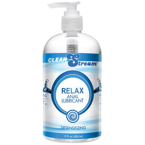 CleanStream Relax Desensitizing Anal Lube - 17 oz Clear