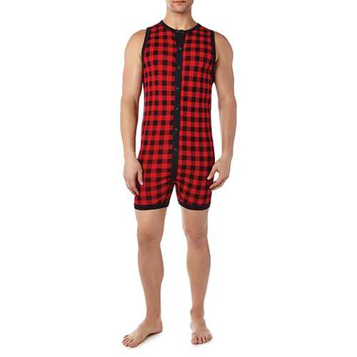 2XIST Essential Fashion Bike Suit Plaid LG