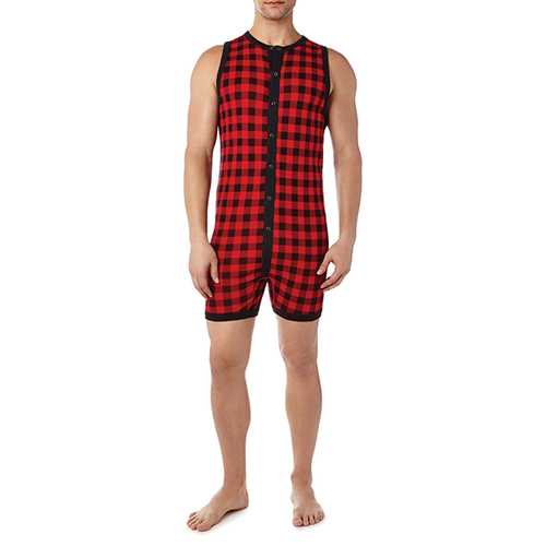 2XIST Essential Fashion Bike Suit Plaid SM