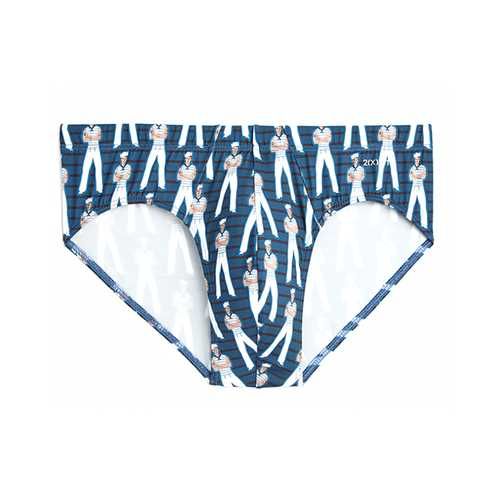 2XIST Graphic Micro 1 Bikini Sailor Man Vintage Blue XL
