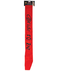 Bride to Be Flashing Sash - Red