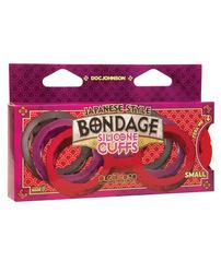 Japanese Bondage Silicone Cuffs Small - Red