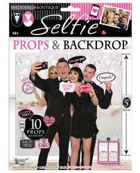 Bridal Boutique Selfie Props & Backdrop