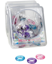 Mega Stretch Doughnut Ring - Asst. Colors Bowl of 72