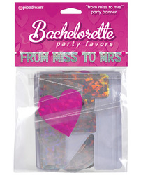 Bachelorette Party Favors From Miss to Mrs Banner - Silver