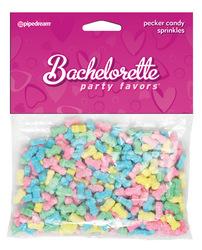 Bachelorette Party Favors Pecker Sprinkles - Asst. Colors