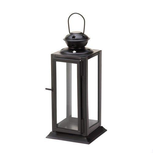 Black Colonial Rectangle Lantern (pack of 1 EA)