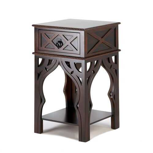 Ornate Moroccan Style Brown Table (pack of 1 EA)