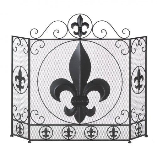 Fleur-de-lis Fireplace Screen (pack of 1 EA)