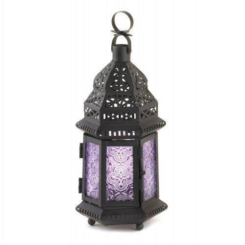 Purple Moroccan Style Lantern (pack of 1 EA)