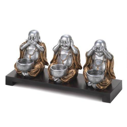 No Evil Buddha Candleholder Set (pack of 1 SET)
