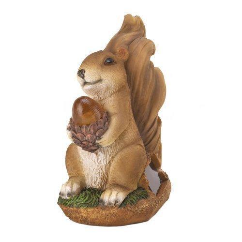 Squirrel Solar Statue