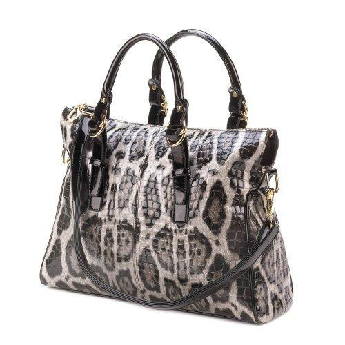Sophisticated Gray Leopard Bag (pack of 1 EA)