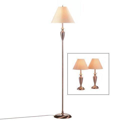 Antique Copper Lamp Trio (pack of 1 SET)