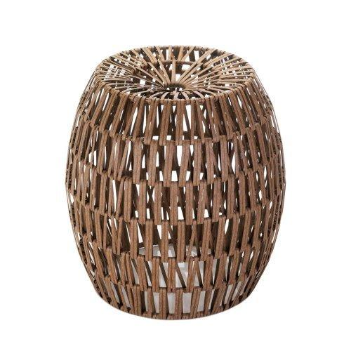 Faux Woven Rattan Stool (pack of 1 EA)