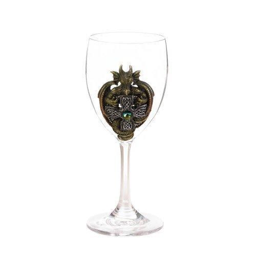 Green Dragon Glass Goblet (pack of 1 EA)