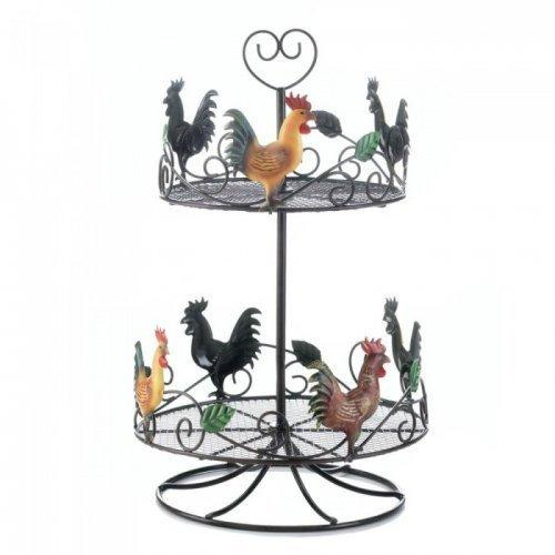 Rooster 2 Tier Countertop Rack (pack of 1 EA)